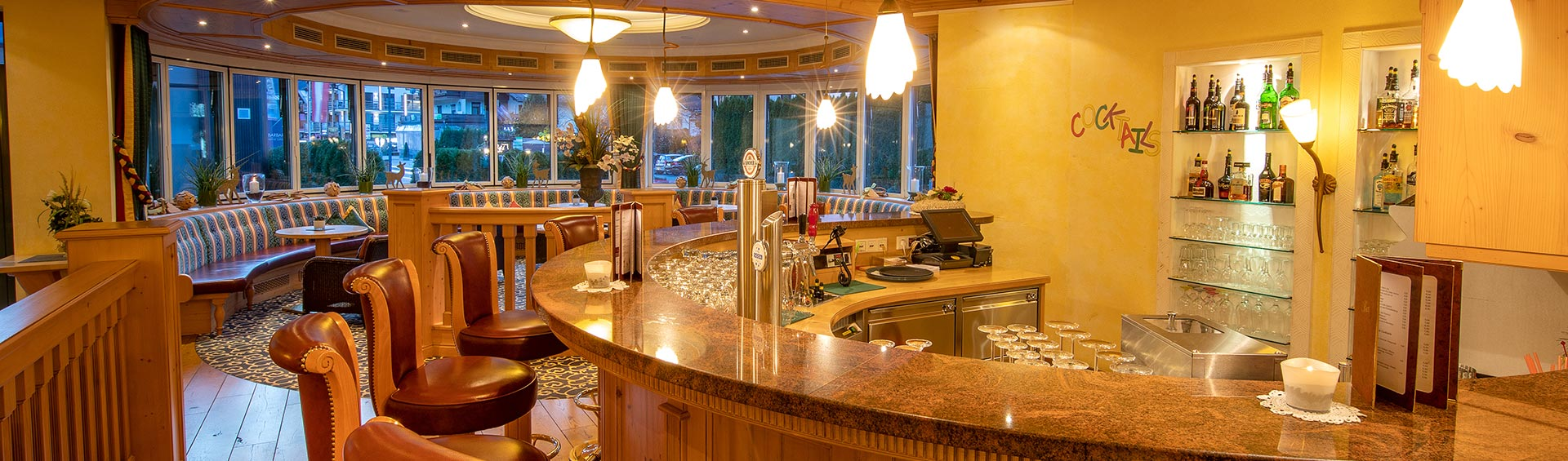 Hotel bar and conservatory