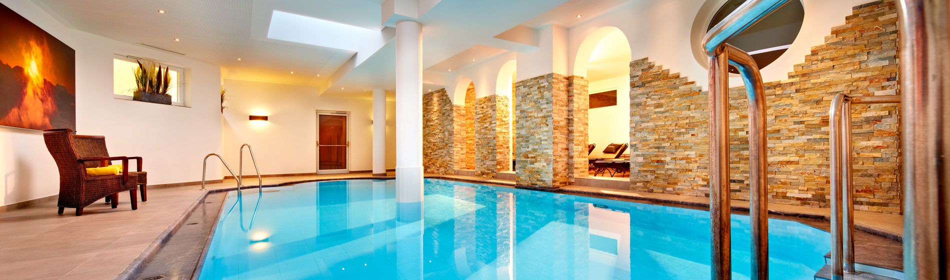 Indoor pool in a hotel