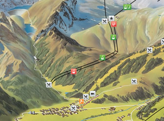 Kaprun map in summer