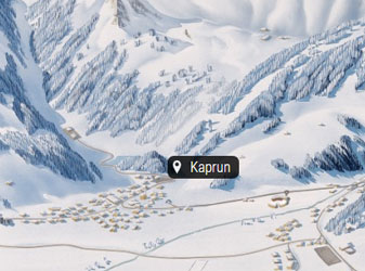 Kaprun map in winter