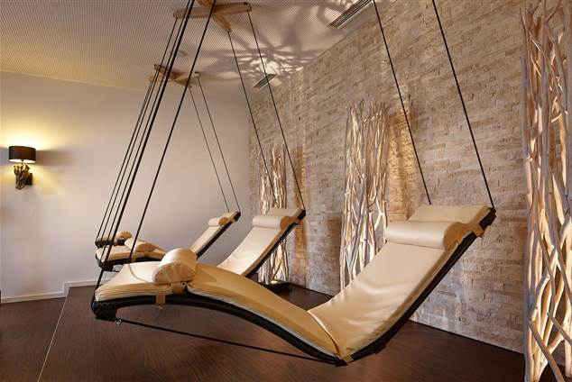 Relax loungers in a hotel